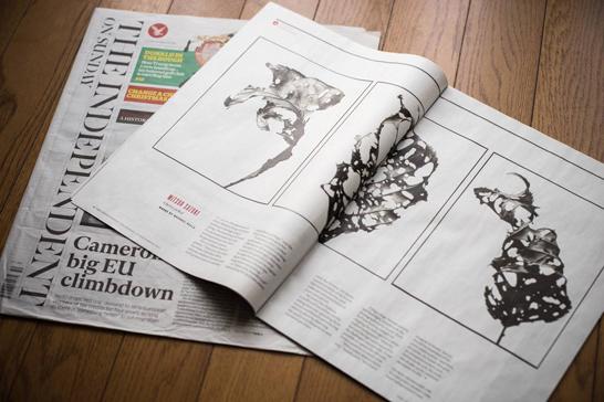 作品掲載されたイギリスの新聞紙『Independent』